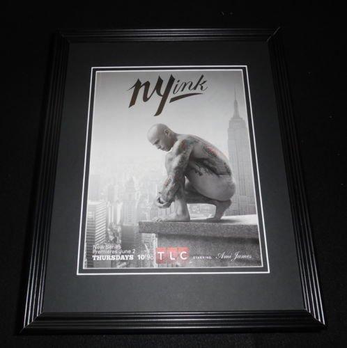 ny-ink-2011-framed-original-vintage-11x14-advertisement-ami-james