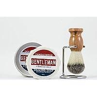 Sandalwood Shaving Soap & Brush - Wet Shave Grooming Kit