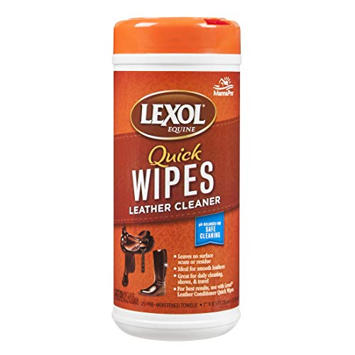 - Manna Pro Lexol Leather Cleaner 25-Moistened Quick Wipes