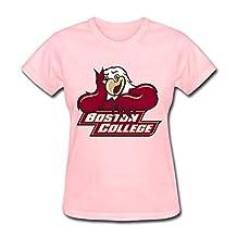 JeFF Women Boston College Logo Shirts Pink Large