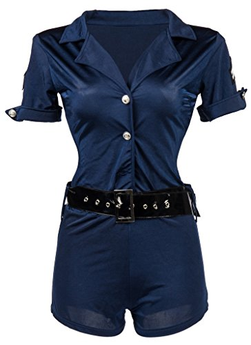 Alivila.Y Fashion Womens Sexy Police Officer Cop Halloween Costume 3756-XL (Halloween Costumes Cop Woman)