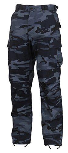 ROTHCO Camo Tactical BDU (Battle Dress Uniform) Military Cargo Pants, Midnight Blue Camo, M (Bdu Uniform Pants)