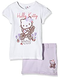 Hello Kitty Cycling Kids T-Shirt & Skirt Set - White