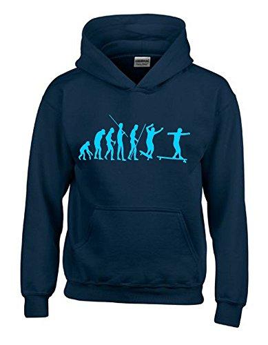 Longboard Evolution Kinder Sweatshirt mit Kapuze HOODIE navy-sky, Gr.164cm