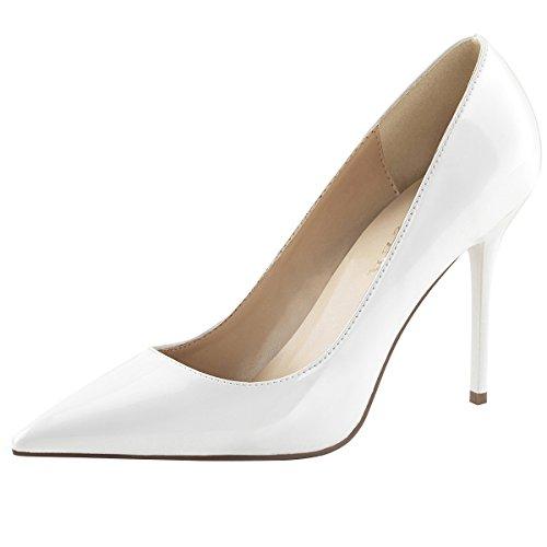 Heels-Perfect Lack Pumps, Damen, Weiss (Weiss) Weiss (weiss)
