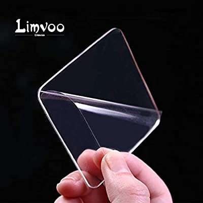 Limvoo Sticky Gel Pads-10Pcs,Removable Double Sided Super Grip! Washable & Reusable Up to 10000Times! Reusable Traceless,Stick to Glass, Metal, Kitchen Cabinets or Tile Nano Tape (Transparent)