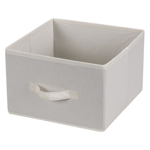Household Essentials 311306 Set of 2 Drawers for Hanging Shelf Closet Organizers | Natural Canvas Fabric Bin with Handle
