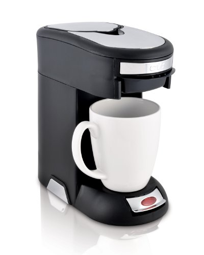 Café Valet Black/Silver Single Serve Coffee Brewer, Exclusively for use with Café Valet Coffee Packs