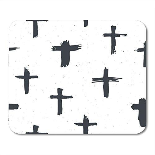 Amazon Boszina Mouse Pads Brush Black Baptism Cross Symbols