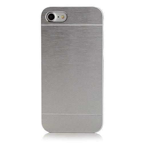 iPhone 8 / 7 Case, Arktis Aluminium Handyhülle - silber