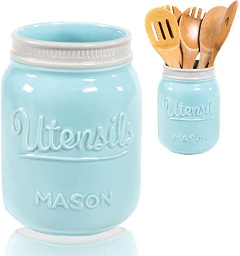 Wide Mouth Mason Utensil Holder product image