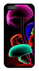 Colorful Mushroom Easter Thanksgiving Masterpiece Limited Design TPU Black Case for iphone 5/5S by Cases & Mousepads