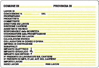 Cartel para obra concessione obra 68x 98cm de PVC POLIONDA ...