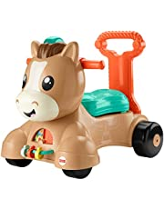 Fisher-Price Walk Bounce & Ride Pony - English & French Edition, Infant to Toddler Musical Walker and Ride-on Toy