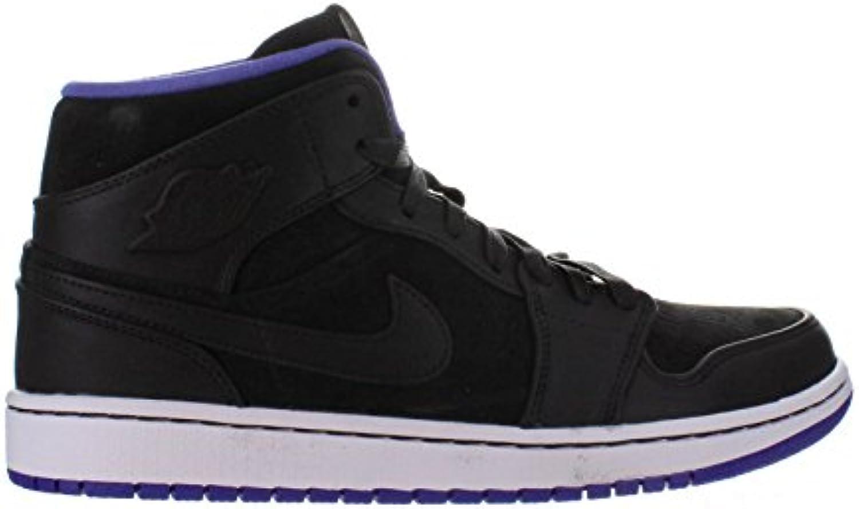 Air Jordan 1 Mid Nouveau Men's Shoes Black/Dark Concord/White 629151-018 629151-018 Concord/White (SIZE: 8.5) B00JWY4S44 Parent f635e3