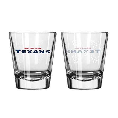 Houston Texans Shot Glass - 2 Pack Satin Etch
