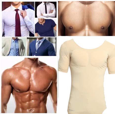 Pectoral Comodidad Para Q Simulación Adelgazar s Músculo Carne Camiseta Hombres Respirable amp;m Color qII0a