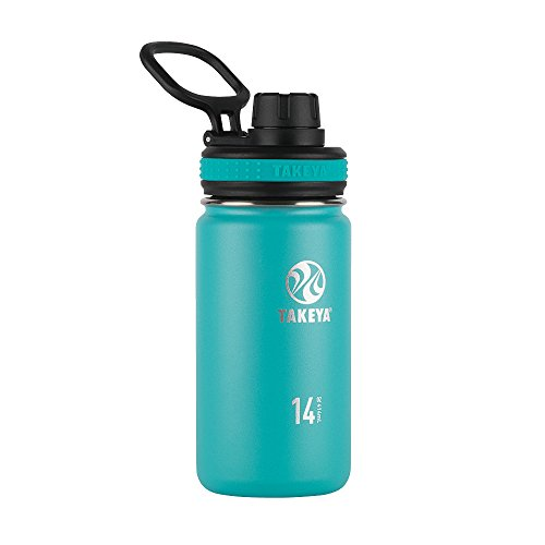 Takeya Originals Vacuum-Insulated Stainless-Steel Water Bottle, 14oz, Ocean