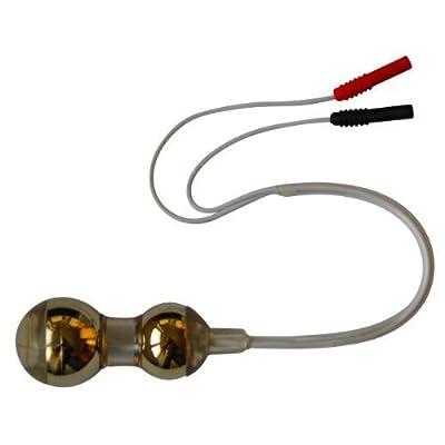 Axion - Sonde vaginale avec revêtement en or - Ø 27mm - connexion à fil 2 mm - pour la tonification du plancher pelvien avec un électrostimulateur EMS (sans nickel)