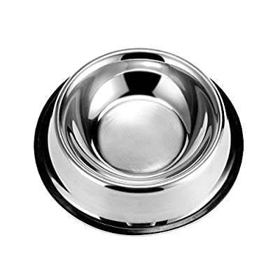 GOGOKING Pet utensils Dog Bowl Non-Slip Double Dog Bowl High-Grade Stainless Steel Bowl Ruggedness