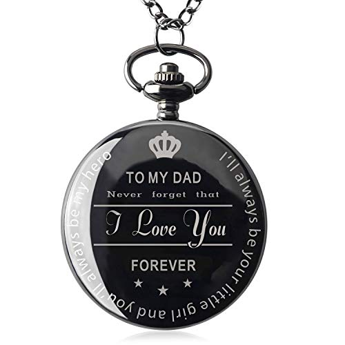 Qise Gifts for Dad from Daughter Best Birthday Gift for Dad for Men with Gift Box (Love You)