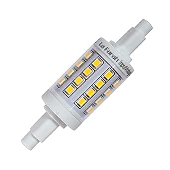 la farah j type 78mm double ended halogen bulb replacement r7s base led light bulb 5 watt 500. Black Bedroom Furniture Sets. Home Design Ideas