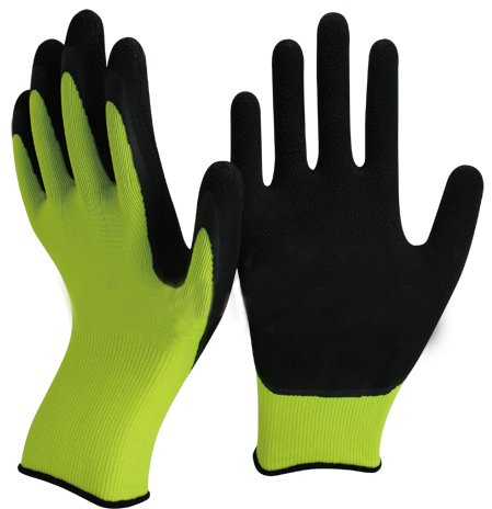 Green and Black Latex Gardening Gloves by Easy Off Gloves. Specialist Foam Latex on the Palm and Finger Tips for Maximum Dexterity, Durability, Strength, Comfort and Grip. Medium EU 9