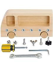 WZDTNL Houten Montessori speelgoed, vroege onderwijs benodigdheden voor peuters schroef driver board basisvaardigheden educatief leren zintuiglijke tool voor kinderen