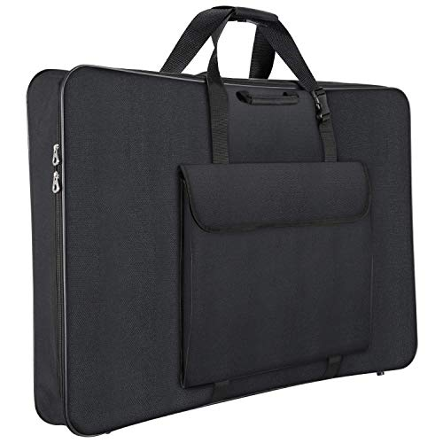 1st Place Products Premium Art Portfolio Case - 24 x 36 Inches Soft Sided - Water Resistant - Carry All - Great for LCD Screens, Monitors & TVs - Shoulder Straps & Carry Handle (Renewed)