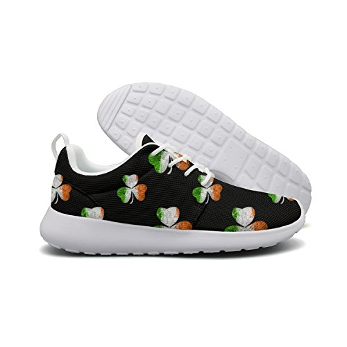 Womens Irish Flag Shamrock pattern Sneakers Breathable Casual Sport Shoes Review