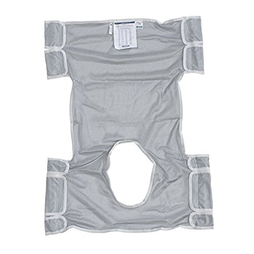 - Drive Medical Patient Lift Sling with Commode Opening, Dacron Gray