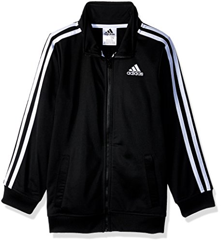 adidas Big Boys' Iconic Tricot Jacket, Black Adi, (Kids Tricot Jacket)