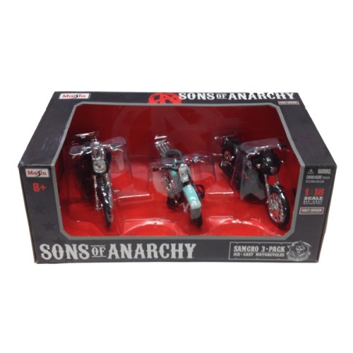 Sons Of Anarchy Childrens Costume (Maisto Die Cast Sons of Anarchy Harley Davidson Motorcycle 3-Piece Set (1:18 Scale))
