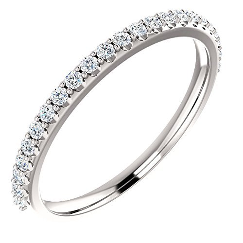 - White Diamond Eternity Anniversary Band 14k Gold 1/4ct. TDW(H Color, SI2 Clarity)