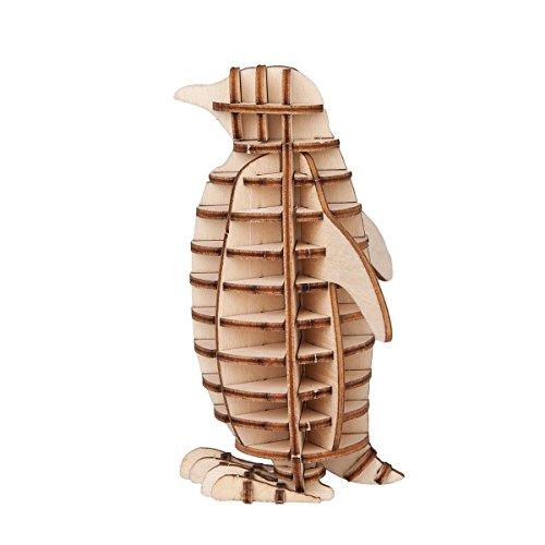 Torch 3D Wood Puzzle Wooden DIY Children Gift Collection - 3d Penguin