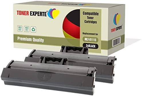 Pack de 2 TONER EXPERTE® Compatibles MLT-D111S Cartuchos de Tóner ...