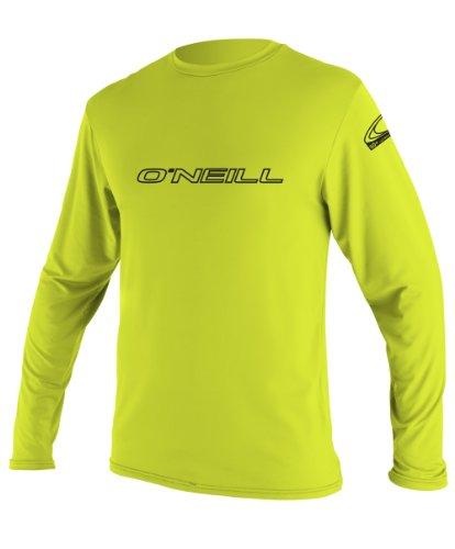 O'Neill Youth Basic Skins UPF 50+ Long Sleeve Sun Shirt, Lime, 4