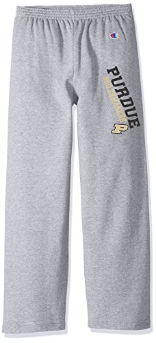 (Champion NCAA Purdue Boilermakers Youth Boys Eco Powerblend Pant, Medium, Heather Gray)