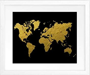 Amazon Com Soulspaze World Map Poster Watercolor Grey Black And