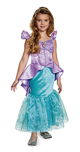 Ariel Prestige Disney Princess The Little Mermaid Costume, X-Small/3T-4T, One (Fairy Princess Costumes Toddler)