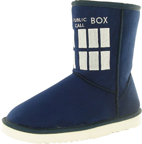 Doctor Who Women's TARDIS Boot Slippers