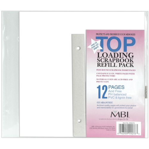 Page Mbi Protectors - MBI 8x8 Inch Page Protectors (6pk) Top-Loading (899078)