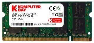 2x1GB DDR2-667  Memory RAM for Dell Latitude D430 2GB Kit