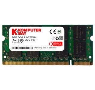 Memoria Ram 2GB DDR2 667MHZ PC2-5300 SODIMM KOMPUTERBAY