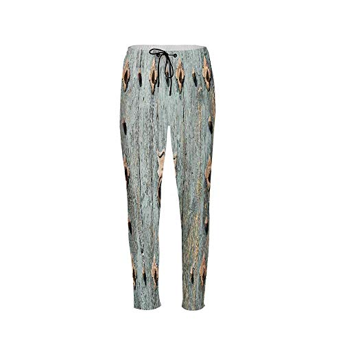 Rustic Stylish Drawstring Pants,European Cathedral with Rusty Old Door Knocker Gothic Medieval Times Spanish Style Decorative for Boys & Men,M