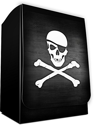 SKULL AND CROSSBONES - Dead Men Tell No Tales - 1 PIRATE Deck Box by MAX PRO (fits Standard MTG POKEMON FORCE OF WILL (Max Pro Deck Box)