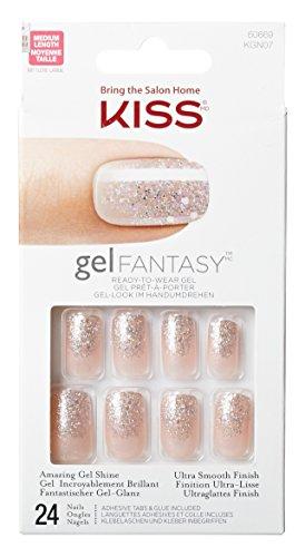 Kiss Gel Fantasy Nails– Rush Hour C, 1er Pack (1x 24 items)