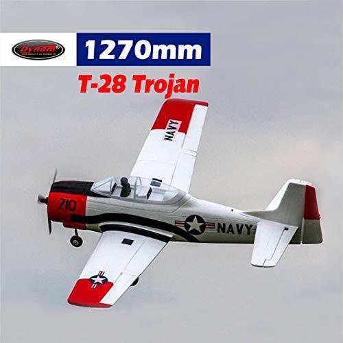 DYNAM RC Airplane T28 Trojan Red 1270mm Wingspan - SRTF