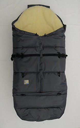 "Kutnik UNIVERSAL FOOTMUFF/SLEEPING BAG COCOON ""BARAN"" with sheep's wool (GRAPHITE) by KUTNIK"