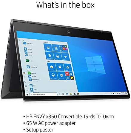 Flagship 2021 HP Envy 15 x360 2 in 1 Laptop 15.6″ Diagonal FHD IPS Touchscreen Display AMD 6-Core Ryzen 5 4500U 32GB RAM 512GB SSD Fingerprint Backlit Wifi6 USB-C HDMI B&O Win10 + iCarp Pen 41Ge2IvKkUL